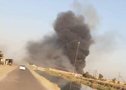 فيديو.. لحظة حريق قاعدة بلد الجوية