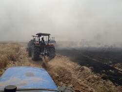 حرائق تأتي على محاصيل زراعية جنوب كركوك
