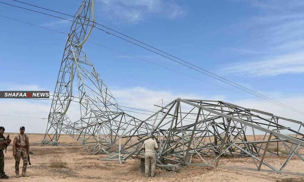 تفجير أبراج للطاقة الكهربائية شمالي ديالى